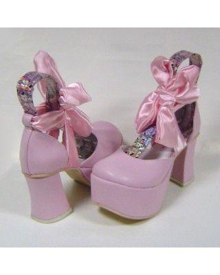 Sweet Pink Bow Lolita Sandals #Lolita  #Sandals