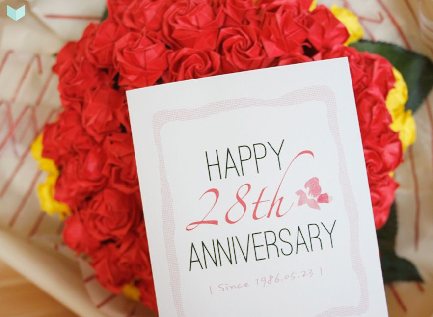 28th Wedding Anniversary Gift: Happy 28th Anniversary ♥ #WeddingAnniversary