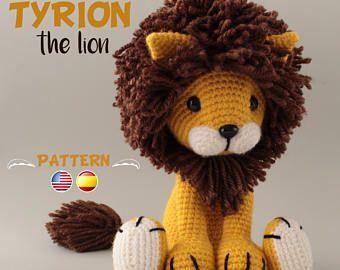 Lion Crochet Pattern Amigurumi : Crochet lion pattern amigurumi pdf tutorial tyrion the lion