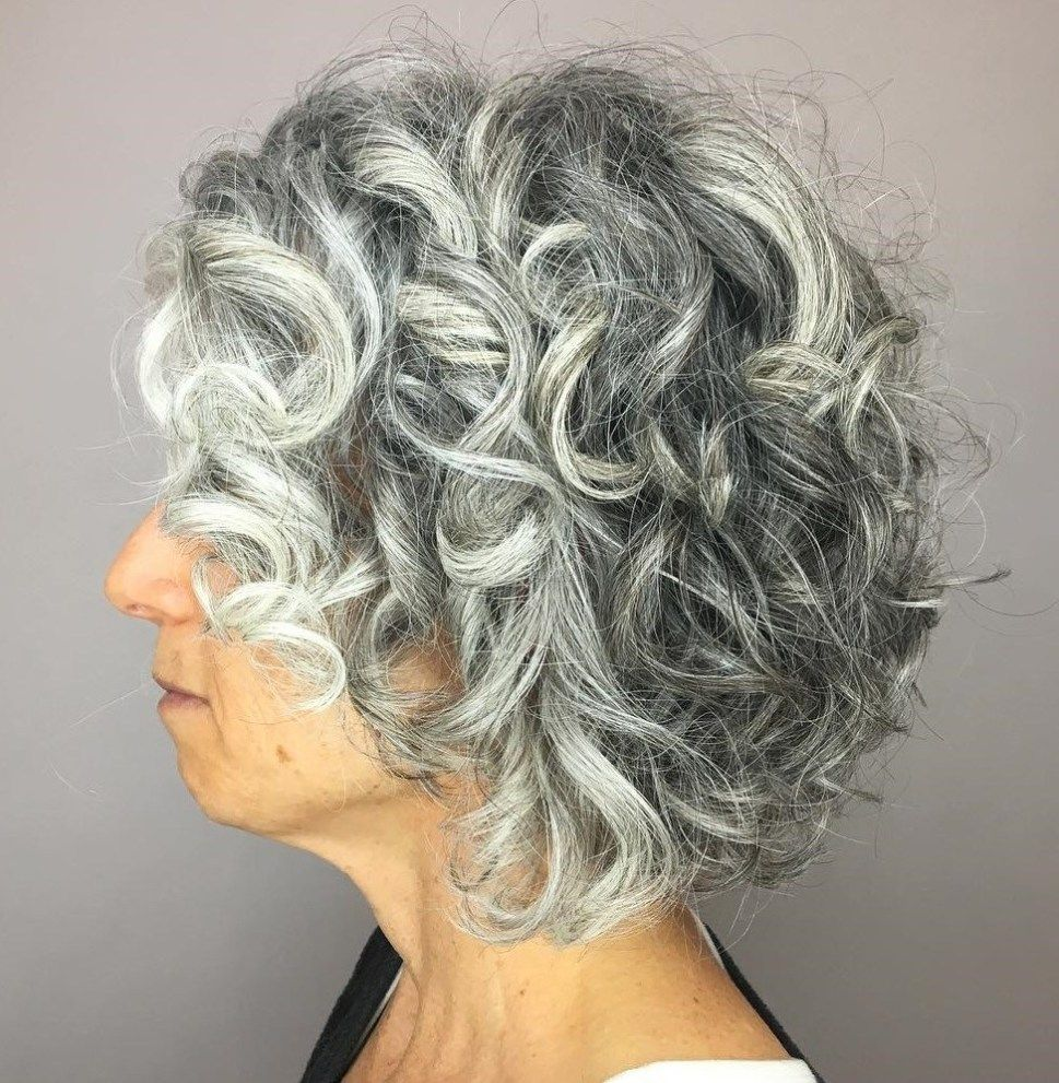 65 Gorgeous Gray Hair Styles | Curly hair styles, Grey curly hair, Curly hair styles naturally
