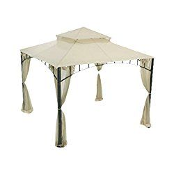 Garden Winds Replacement Canopy For Summer Veranda Gazebo Beige Gazebo Replacement Canopy Replacement Canopy Gazebo Canopy