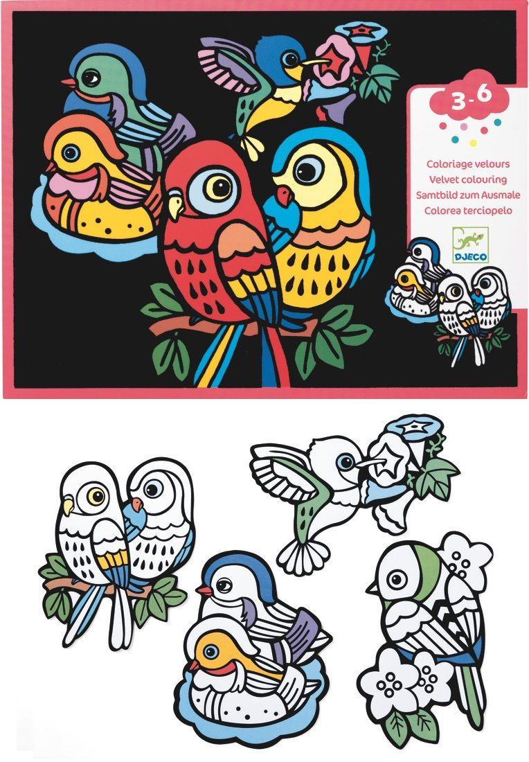 Coloriages Velours Bebes Oiseaux Bebe Oiseau Coloriage Velours