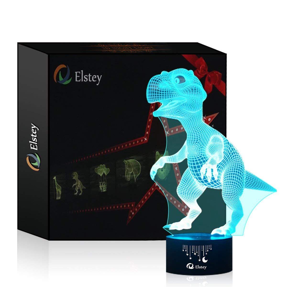 Der Spielzeugtester Hat Das 3d Visual Lampe Optische Illusion Led Nacht Licht Elsley Amazing 7 Farben Dinosaurier Form Touch Sensiti Led Dinosaurier Spielzeug