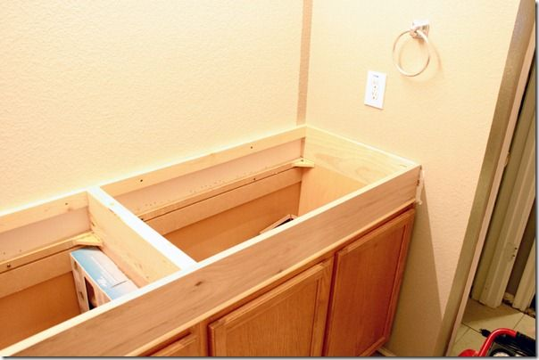 Remodelaholic   How to Raise Up A Short Vanity   Bathroom ...