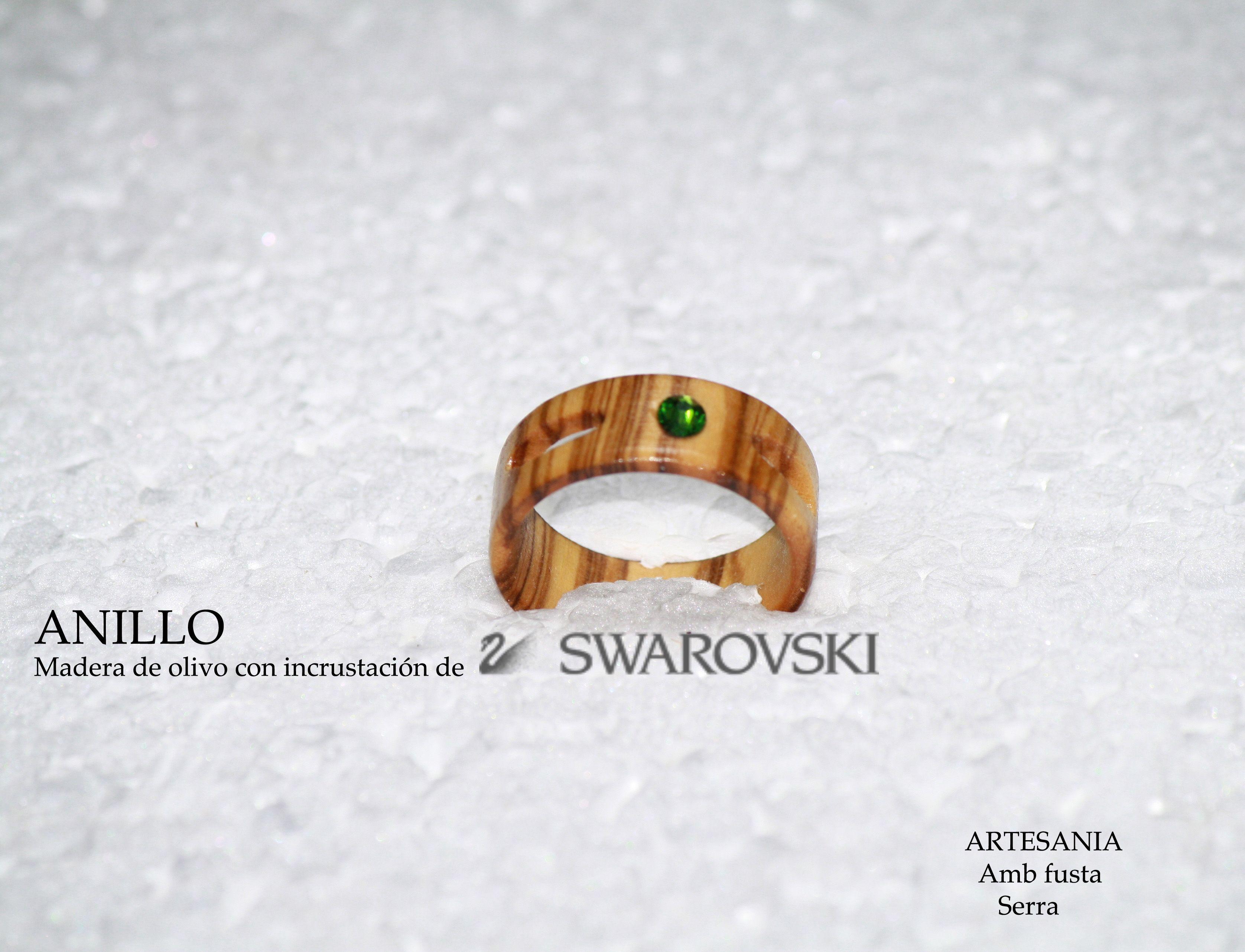 anillo de madera de olivo