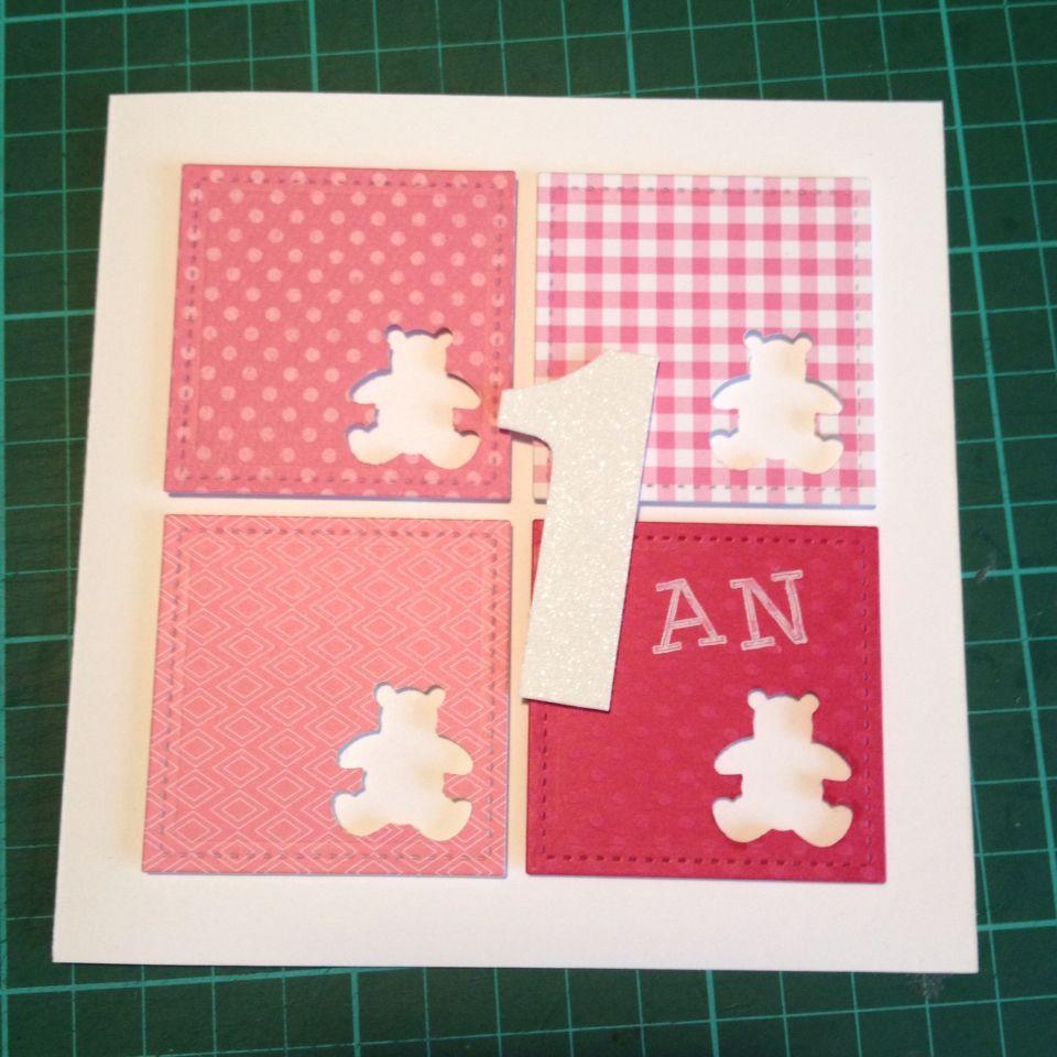 Carte Anniversaire Petite Fille 1an Ourson Carte Anniversaire Carte Anniversaire Petite Fille Carte Felicitation Naissance