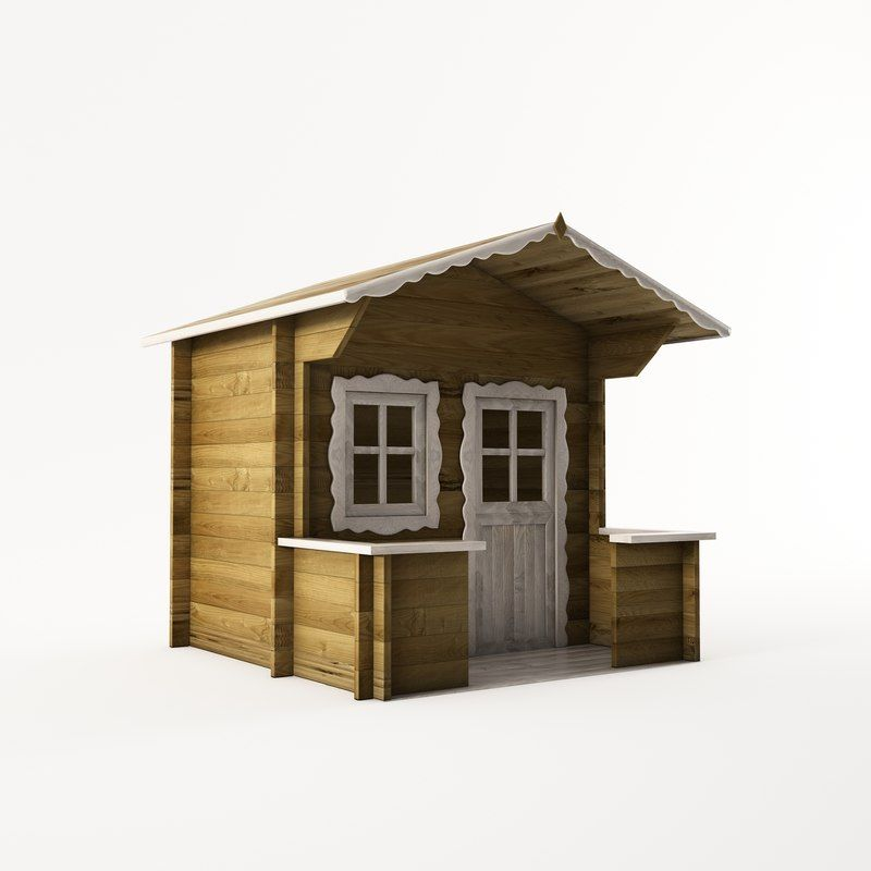 3d model wooden playhouse using child | Bamboo architecture