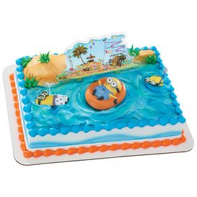 Despicable Me Beach Party Decoset Plastic Canvas Pool Cake