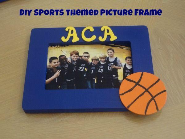 Diy Sports Themed Picture Frame Via Jmanandmillerbug