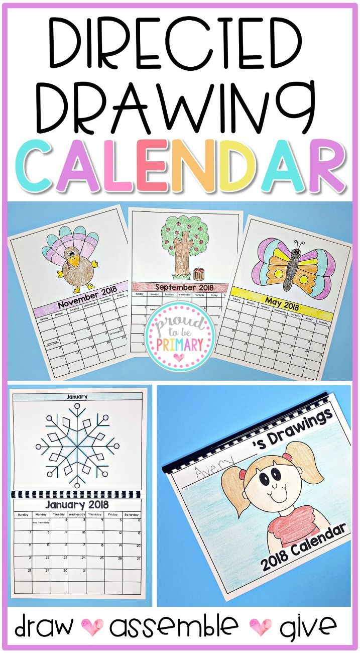 Directed Drawing Calendar Parent Gift Includes 2019 2021 Editable Calendar Kids Calendar Directed Drawing Parent Gifts