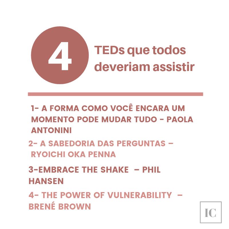 4 Teds Para Começar Bem A Semana Desenvolvimento Pessoal