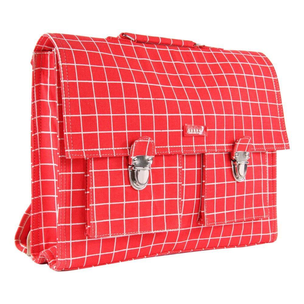 Schultasche Big mit Trageriemen und Karos Kotak Rot | Schulranzen ...