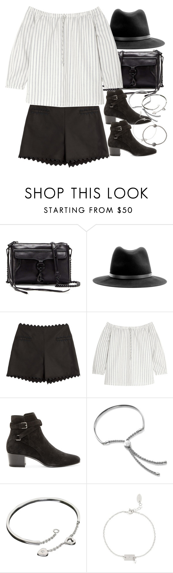 """""""Untitled #8985"""" by nikka-phillips ❤ liked on Polyvore featuring Rebecca Minkoff, rag & bone, Moschino Cheap & Chic, Madewell, Yves Saint Laurent, Monica Vinader, Cartier, Nashelle and Shamballa Jewels"""