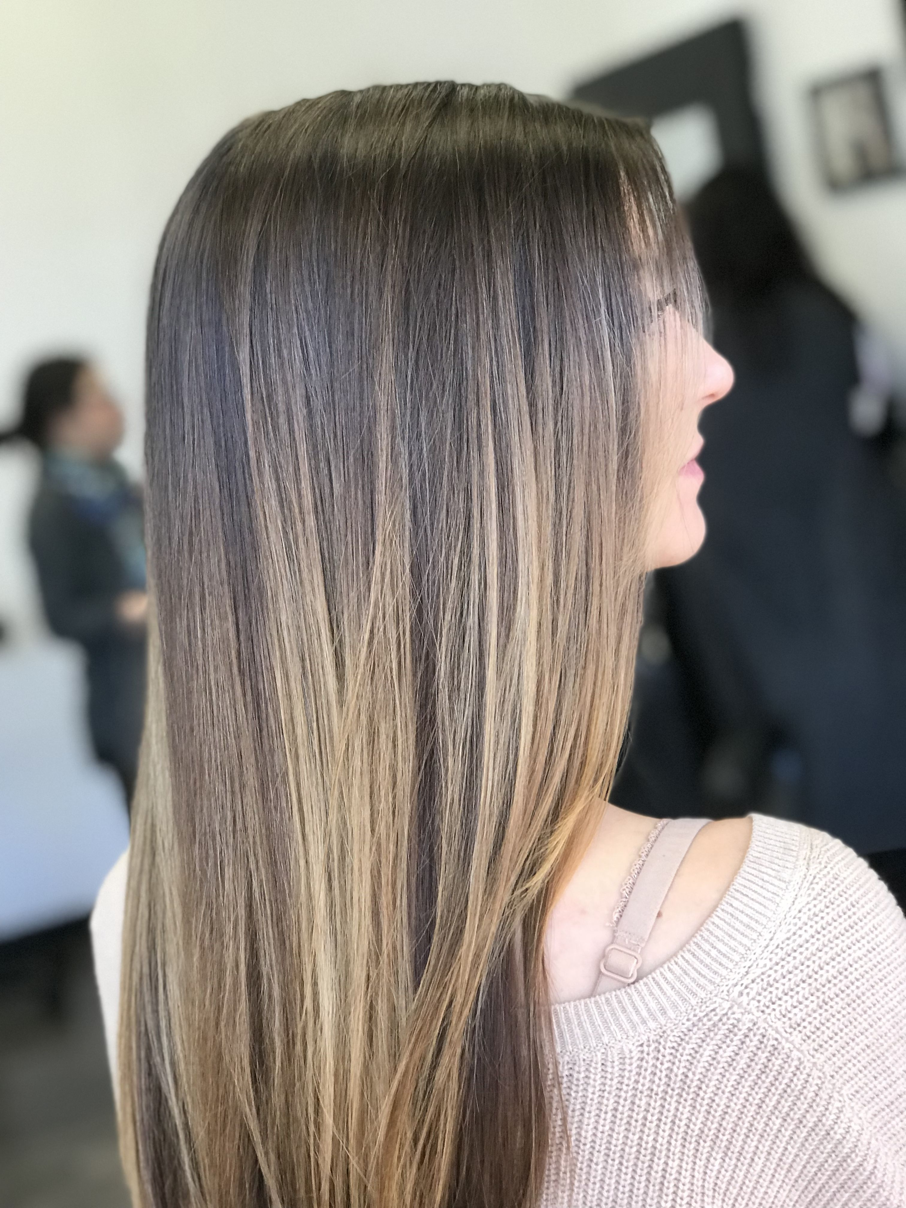 Blended Straight Hair Balayage Brown Straight Hair Balayage Straight Hair Straight Hair Highlights