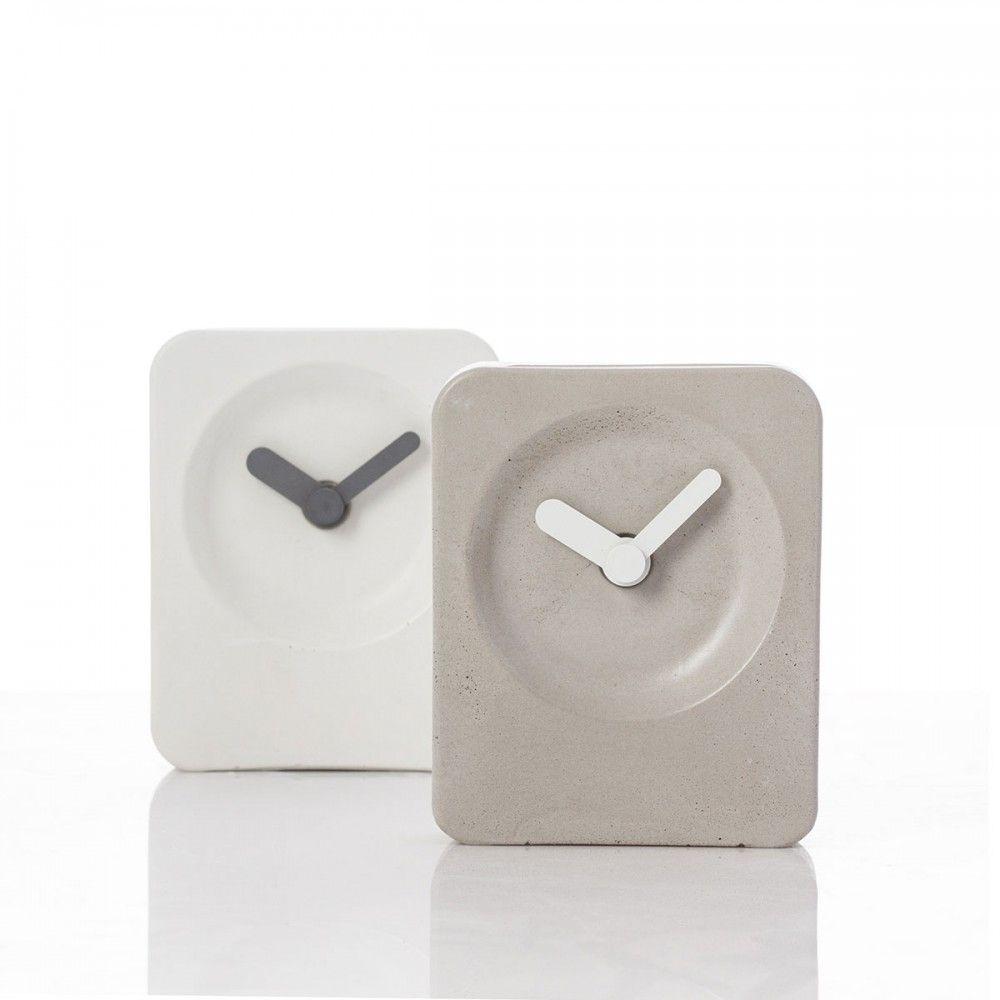 Grey Concrete Alarm Clock Concrete Quartz Movement Clock Clock Design Concrete Light