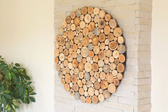Round Wood Wall Art Tree Rounds Decor Holzwand Kunst Tree Slices Wall Art Modern Wood Wall Art Reclaimed Wood Wall Art Wooden Wall Art Hanging Wall Decor