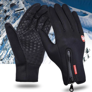 Womens Leather Winter Gloves Plush Warm Thermal Using Phone Riding Skiing Gloves Thick Waterproof Windproof Mittens