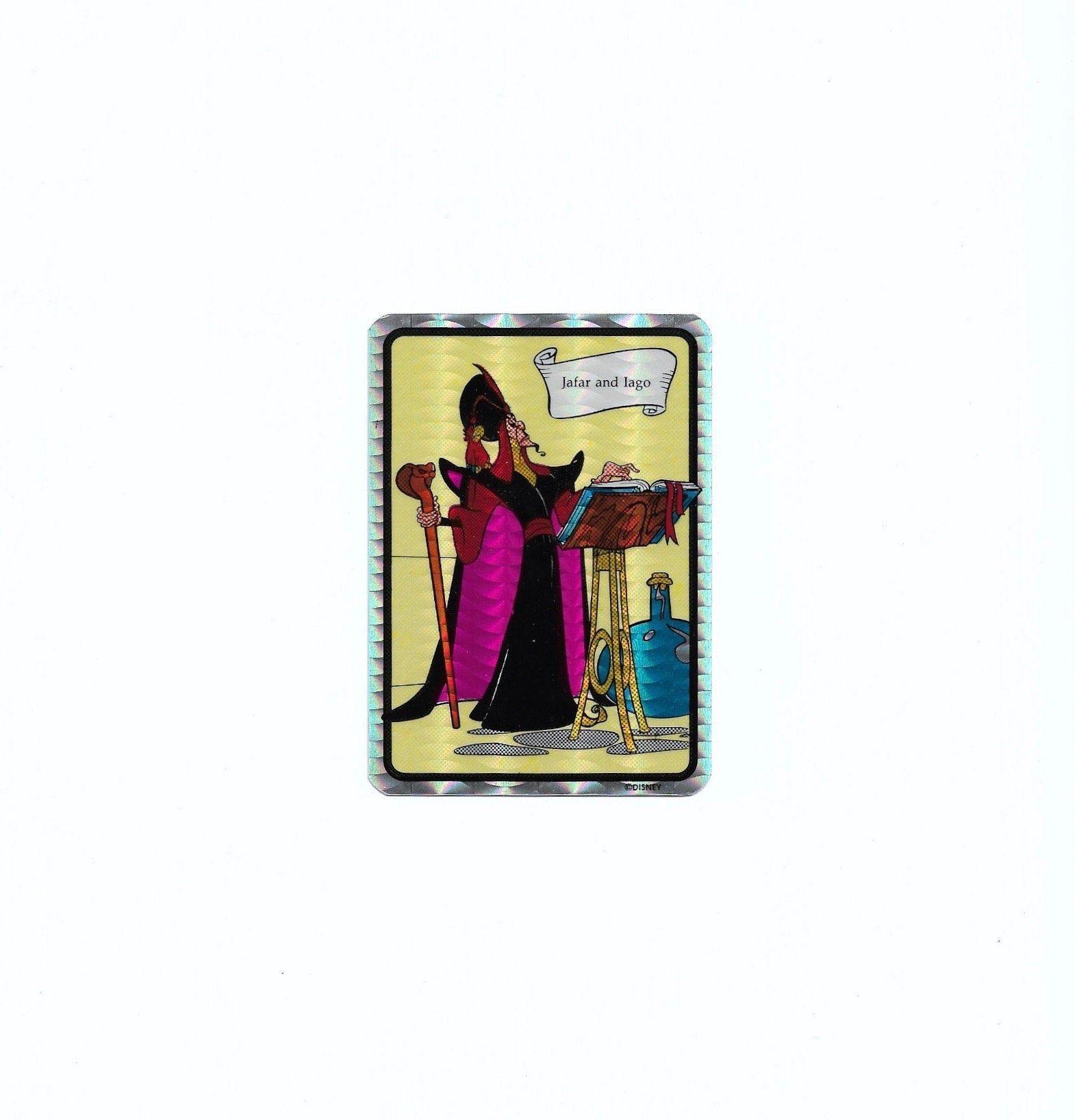 Vintage Aladdin Movie Sticker Prism Vending Decal Iago Jafar Animated Film 90s Holographic Cartoon Character 1992 Disn In 2021 Aladdin Movie Disney Gift Animation Film [ 1636 x 1570 Pixel ]