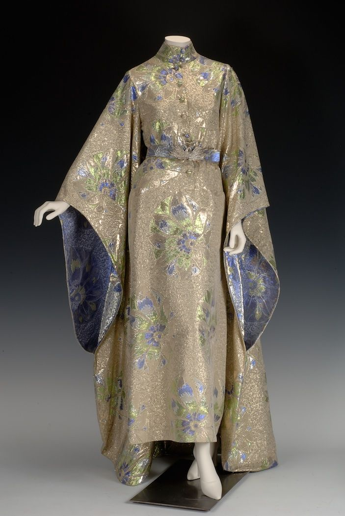 Philippe Venet couturier. A brocade hostess gown own by Doris Duke, date unknown