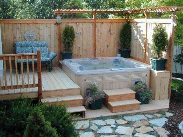 sunken in deck jacuzzi google search hot tub gazebo jacuzzi garten garten whirlpool garten. Black Bedroom Furniture Sets. Home Design Ideas