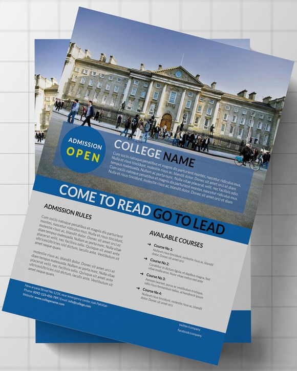 College   University Flyer by Mehrographix on Creative Market - university brochure template