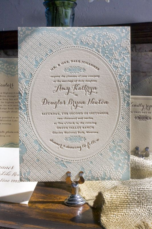 Amy Doug S Western Romance Lace Inspired Wedding Invitations