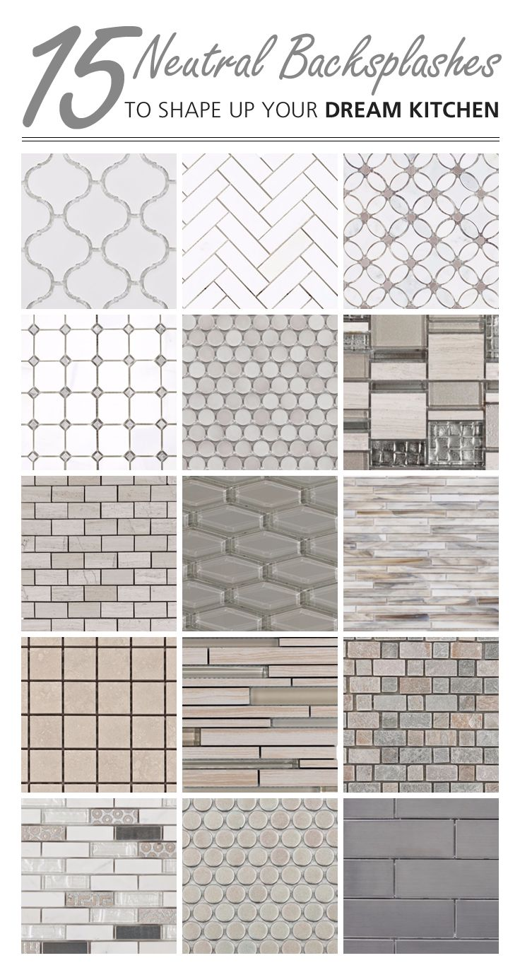 - Arabesque, Elongated Hexagon, And Penny Tiles, These Neutral