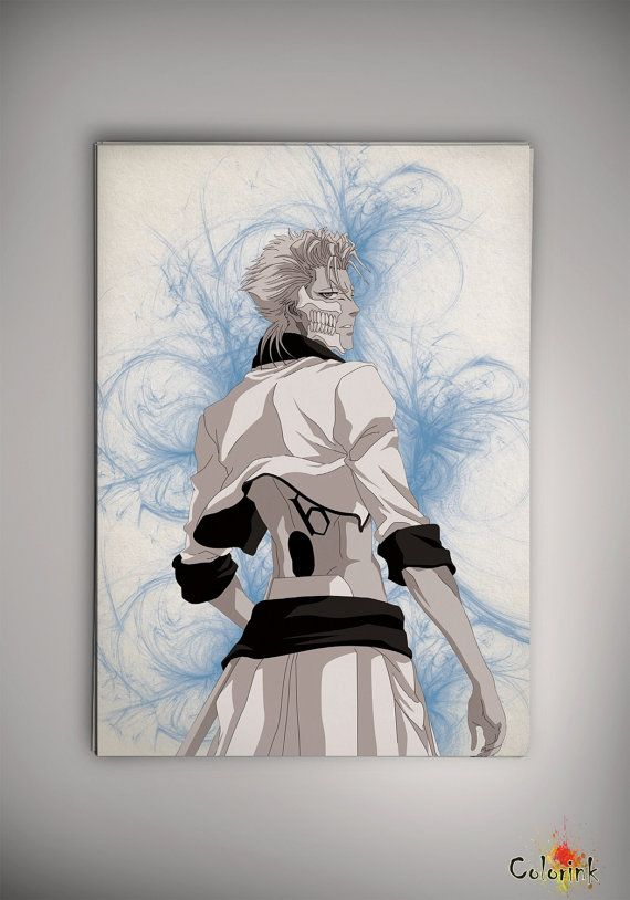 Bleach Grimmjow Watercolor Illustrations Print Wall Art Poster