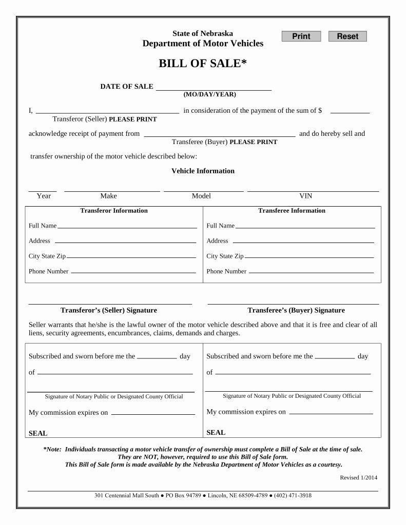 Dmv Printable Bill Of Sale in 2020 Weekly schedule