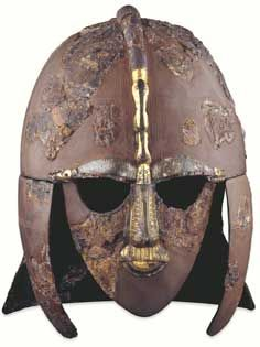 Helmet from the ship-burial at Sutton Hoo, Anglo-Saxon, early 7th century AD