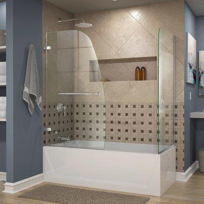 Dreamline Aqua Uno 60 X 58 Hinged Tub Door Finish Brushed