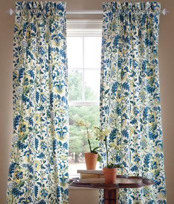 Curtains In Comforter Fabric