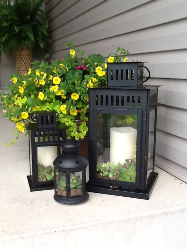 Lantern Porch Decorations Front Entrance Decor Porch Lanterns