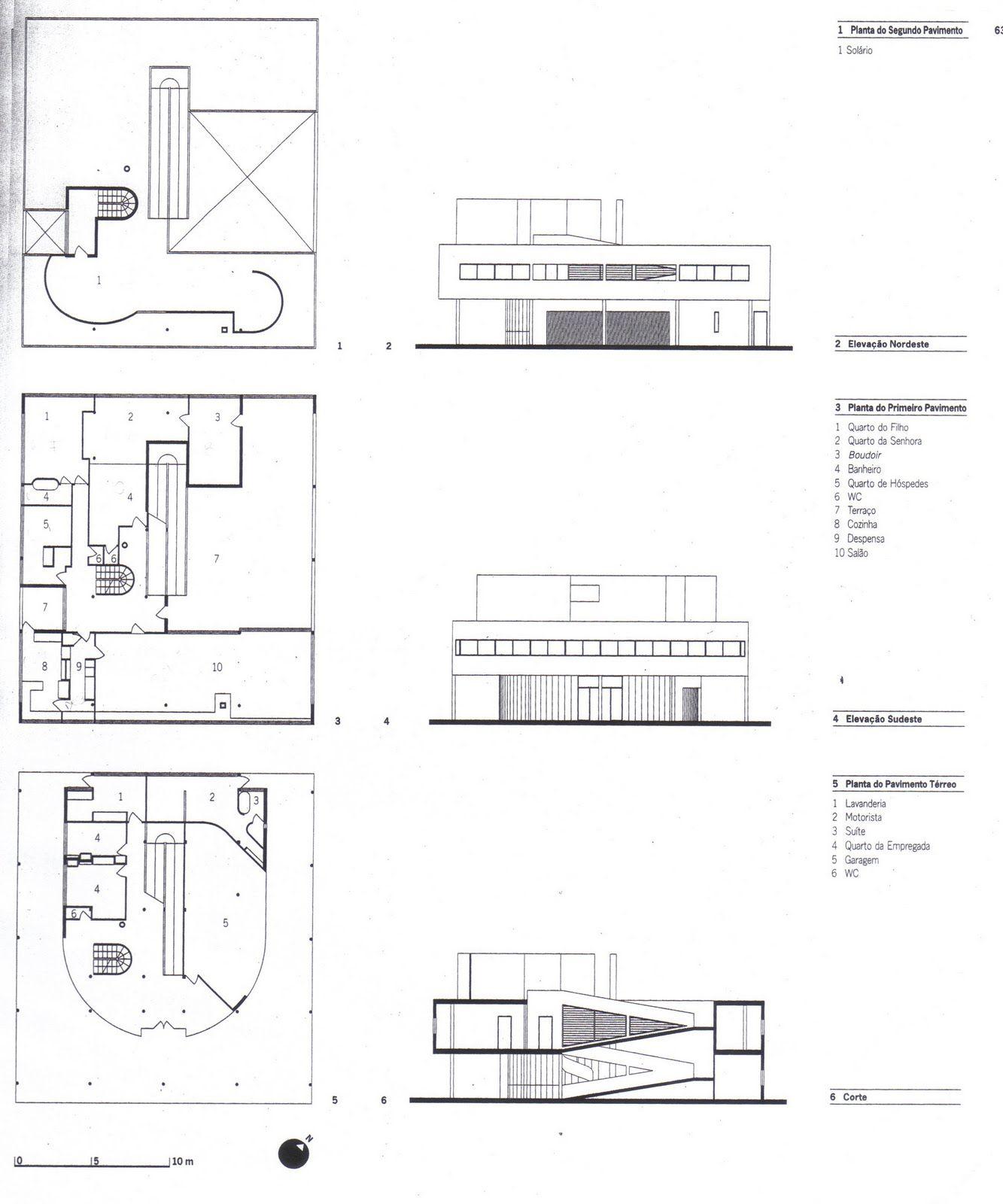 ville savoye planta pesquisa google - Plan Maison Google Sketchup
