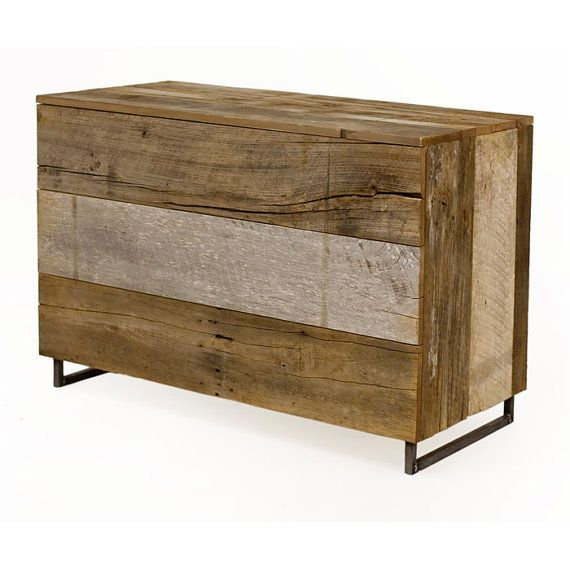 Reclaimed Hardwood Dresser  Salvaged wood from old Barn by robrray