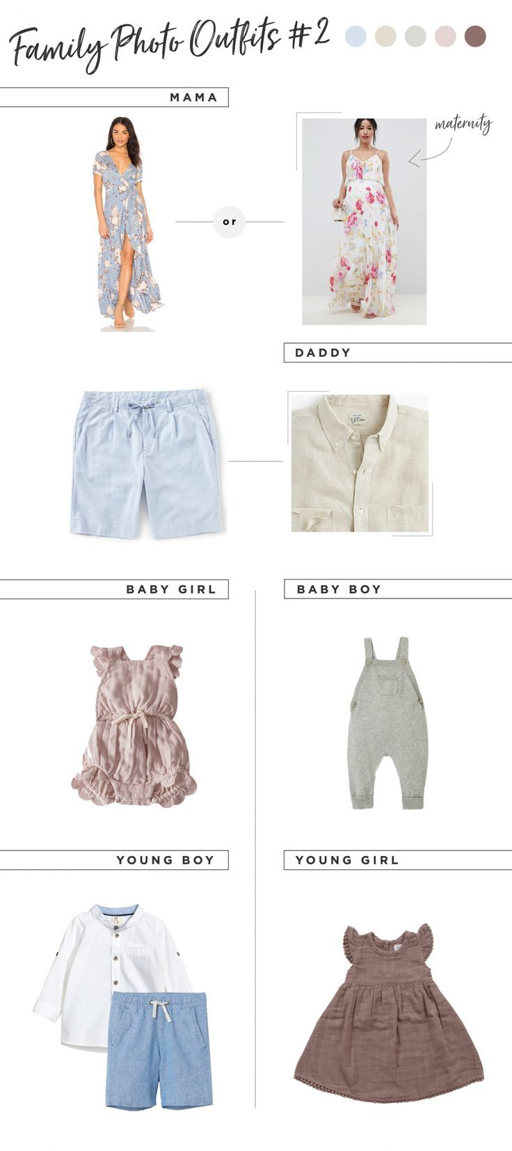Family Photo Outfit Ideas for Summer #familyphotooutfits