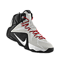 sports shoes b1de4 7dcd4 I designed the white Nike LeBron 12 iD men s basketball shoe with black and  university red trim.