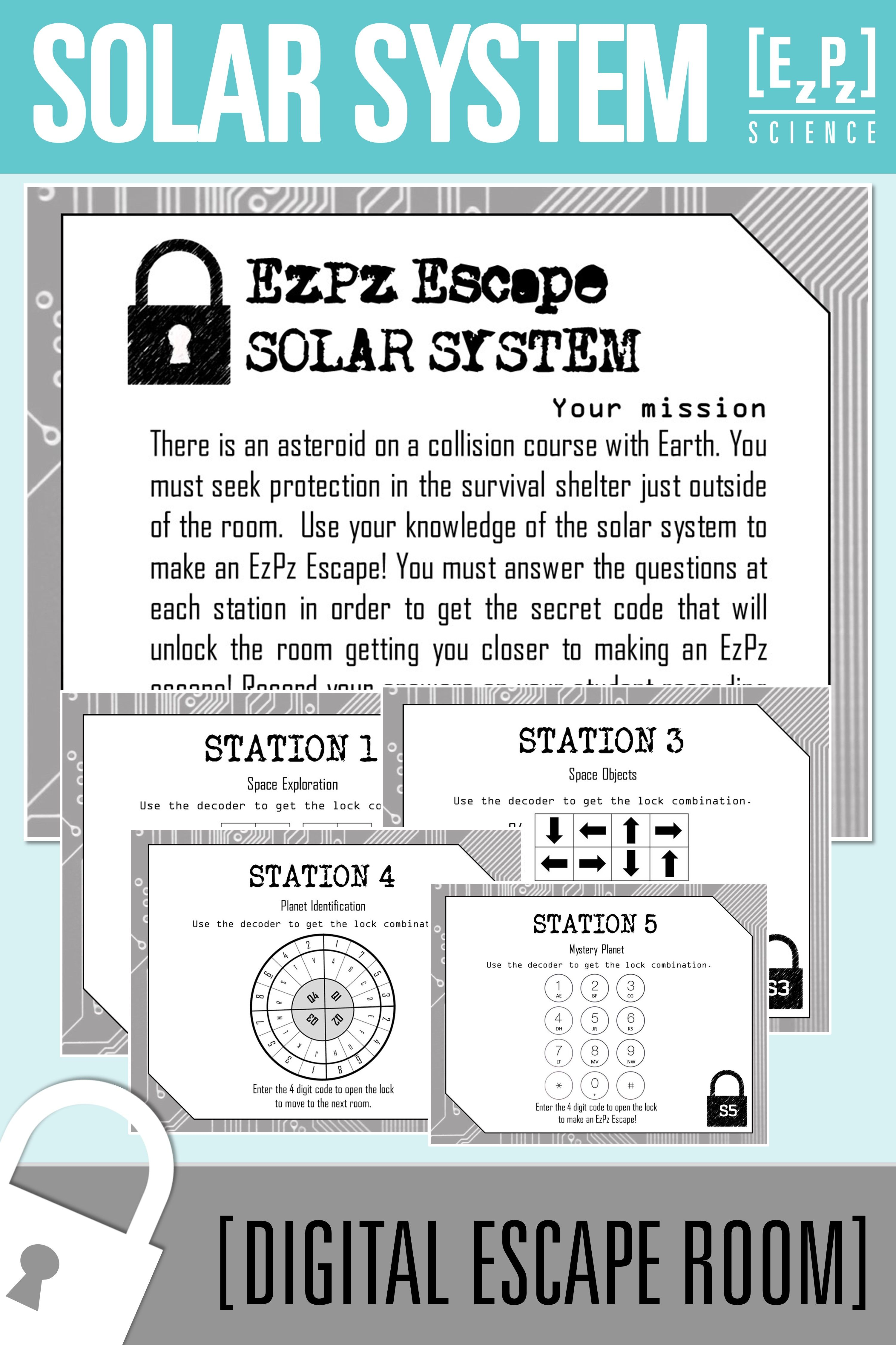 Solar System Escape Room Science Escape Room Solar System Earth And Space Science Science [ 4500 x 3000 Pixel ]
