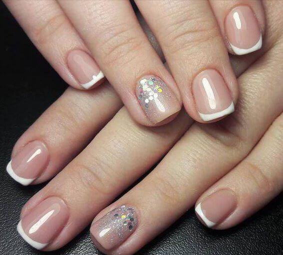 New French Shellac Nail Designs