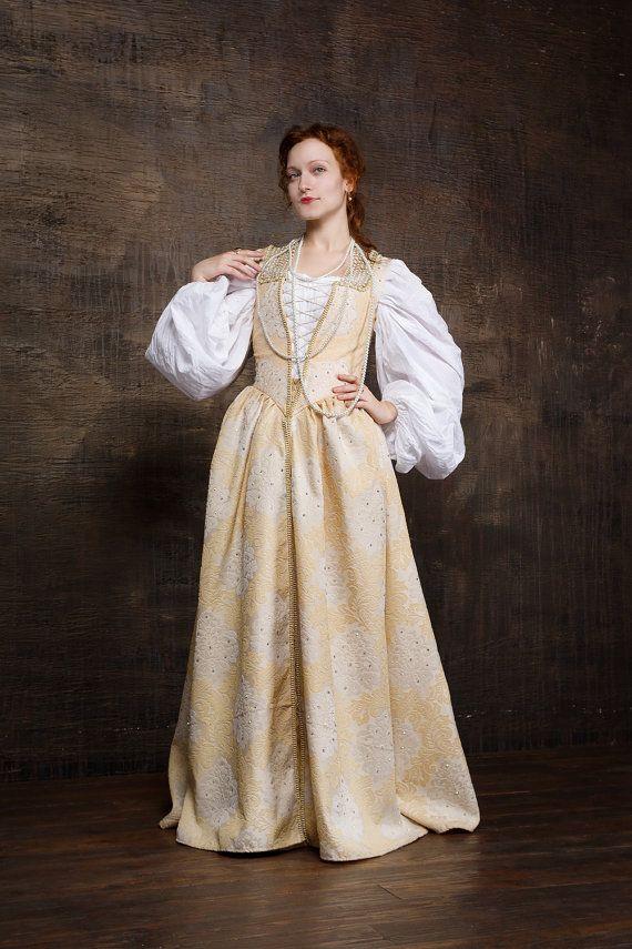 854e4f91d0 Renaissance woman costume Dress + Chemise + Underskirt! 16th century  Venetian