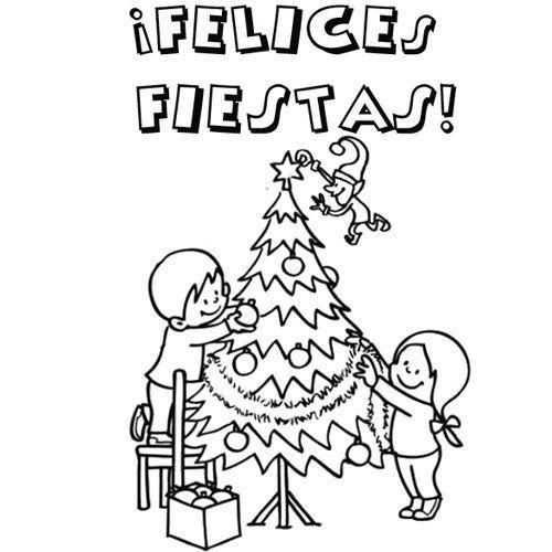 Colorear familia y arbol de navidad buscar con google - Arbol de navidad para colorear ...