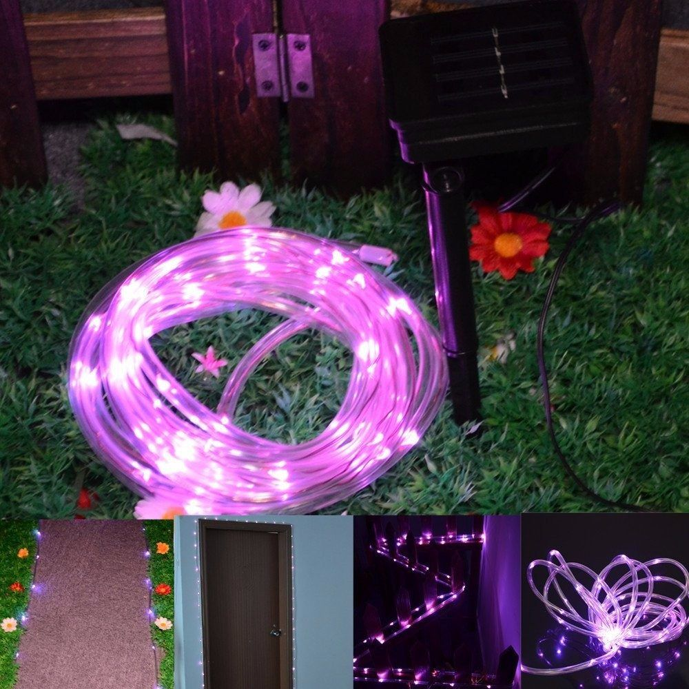 Tubo De 50 Luces Led Solares P Interior O Exterior Colores  # Muebles Solares