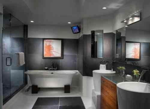 Salle de bain ardoise : naturelle et chic | Maison | Salle de Bain ...