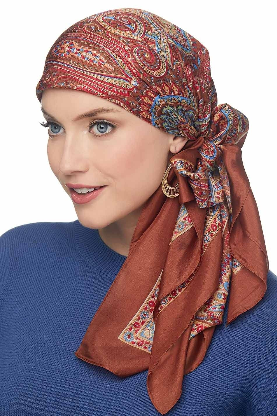 how to tie a head wrap scarf