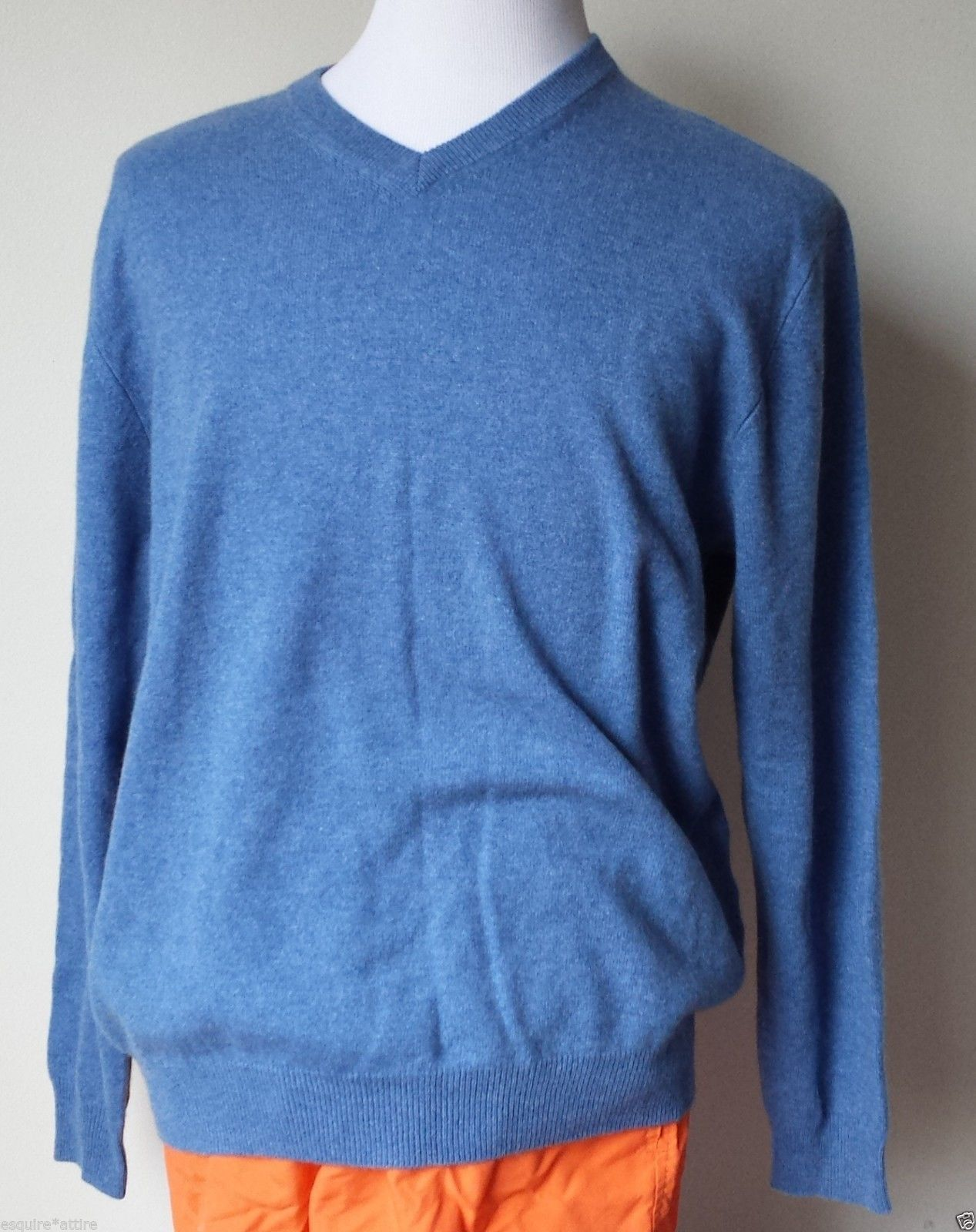 Allen Solly men size M 100% #cashmere V-neck sweater blue color ...