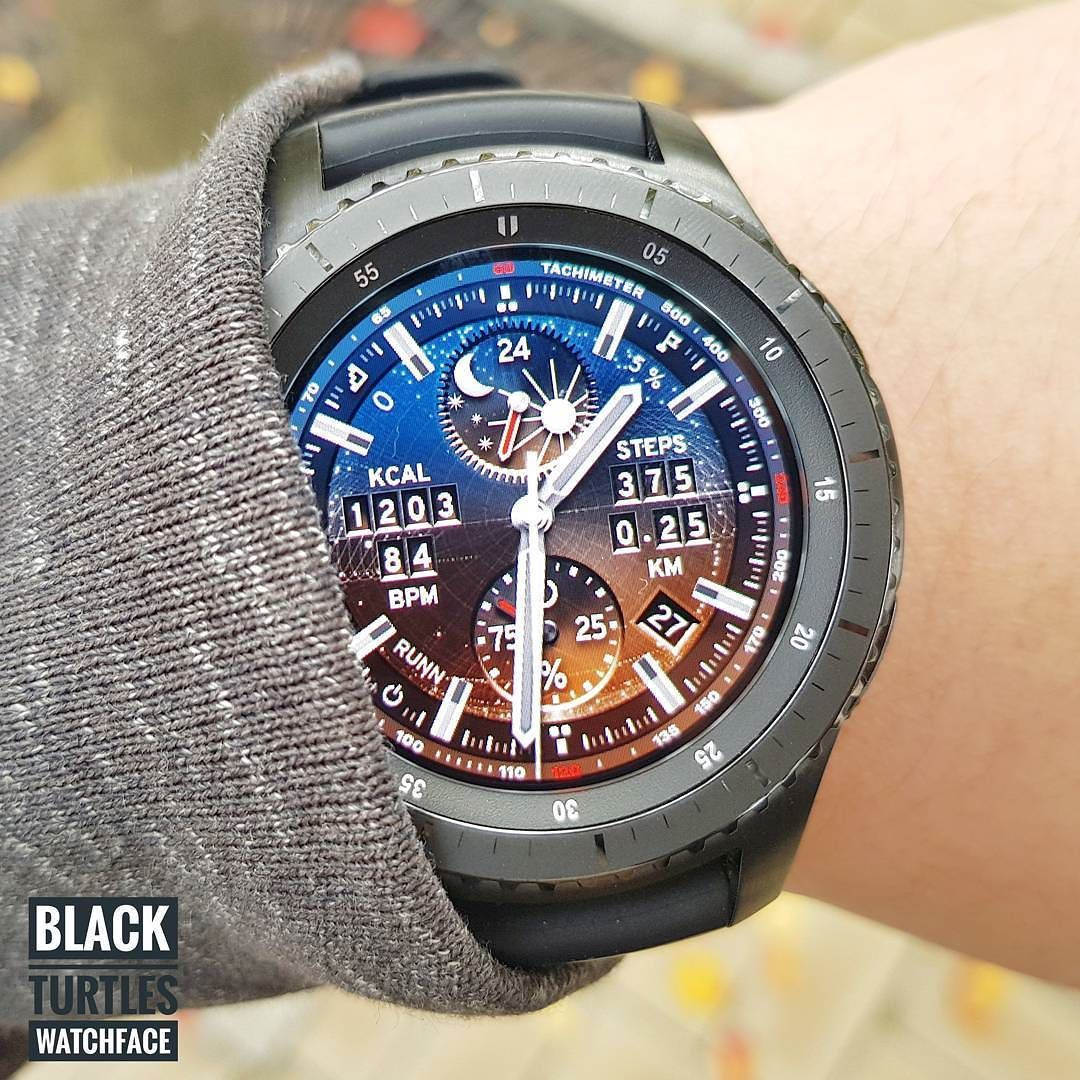 This fancy watch face is like space. If you watch this watchcase you will be charmed by the contrast between red … | Samsung watches. Fancy ...