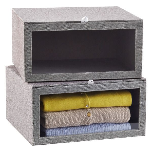 Grey Drop Front Sweater Box Products Closet Closet Storage