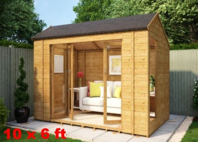 Heavy Duty Summerhouse Wood Log Cabin Garden Screen House ...