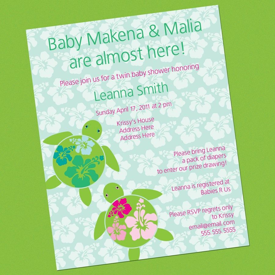 Turtle Invitations For Baby Shower | Turtle Baby Shower Ideas ...