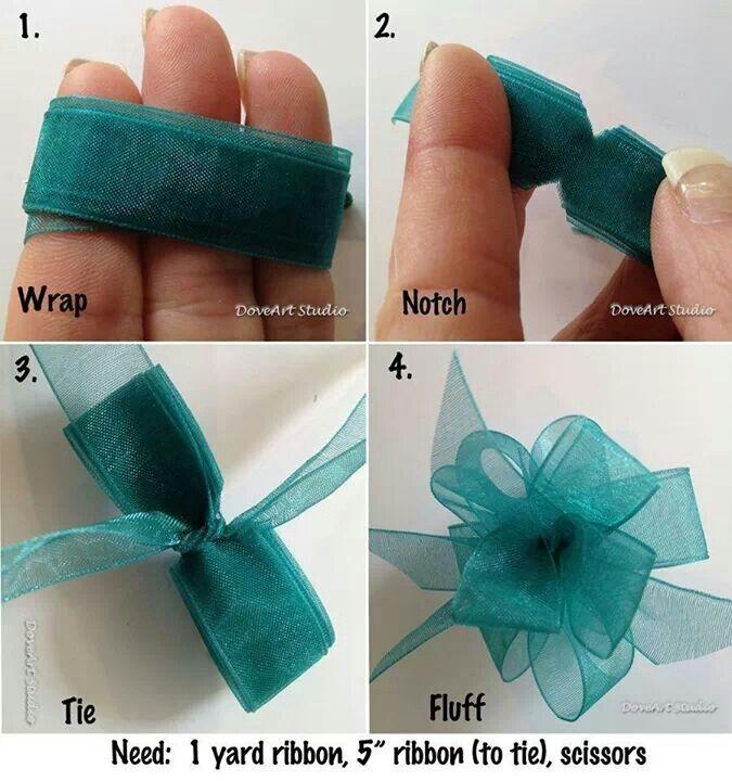 maken van een strik van stof